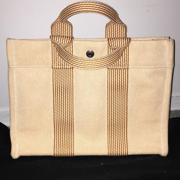 2d9be1a43dbd Hermes Handbags - Perfect vintage Hermès canvas tote orange amazing